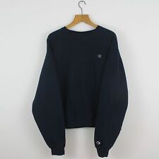 Vintage CHAMPION USA Navy Blue Sweatshirt Jumper | Retro Wavey Urban | XL