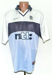 RANGERS SCOTLAND 1999/2000 AWAY FOOTBALL SHIRT JERSEY NIKE SIZE XL ADULT
