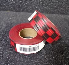 """Lot of (2) Flagging Tape, Red/Black, 300 ft x 1-3/8"""" 3JVY3 (M)"""