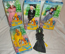 5 Vintage 1980's Multi Toys Corp. Wizard Of Oz Dolls (4) Boxed