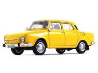 Škoda 100 Yellow 1:43 Scale Czechoslovakian Family Car 1969 Year Diecast Model