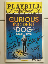the Curious Incident Dog Night-time cast  signed playbill Broadway Alex Sharp NY