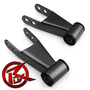 """2"""" Rear Drop Shackles Lowering Pair For 97-03 Ford F150 Leveling Kit 2WD 4WD"""