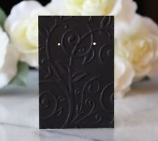 25 Black Swirl Earring Cards, Jewelry Cards, Craft Show or Retail Display Cards