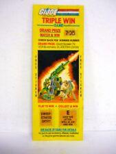 Gi Joe Triple Win Game Vintage Scratch Off w/Sticker Mountain Howitzer 1985
