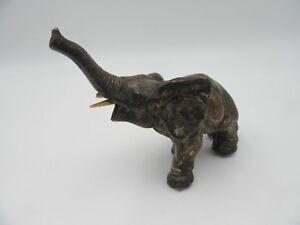Healifty figurina Elefante in Resina Genitore e Figlio Scultura Animale Statua manufatti per larredamento Ornamenti Decorazioni per Ufficio a casa Bianco