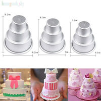 3 Size Mini 3-Tier Cupcake Molds Pudding Chocolate Cake  Baking Pan Mould Tools
