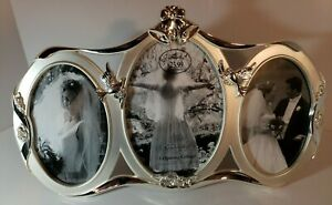 Green Tree Gallery Wedding Frame 3 Opening Silver 1 5x7 & 2 4x6.