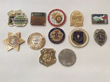 police pins lot 11 world police fire games, Arizona police games, LEO games.