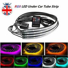 4X 60+90cm LED Neon Strip Light Kit Under Car Tube Underglow Atmosphere 12W