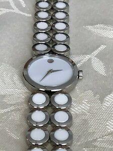 MOVADO ONO MODA Stainless Steel & Ceramic Bracelet Women's Watch 0606095