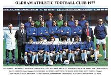 OLDHAM ATHLETIC F.C.TEAM PRINT 1977 (GROVES / CHAPMAN / HALOM)