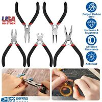 5Pcs Tooth Needle Round Nose Pliers Tool Kit For Jewelry Making Tools US
