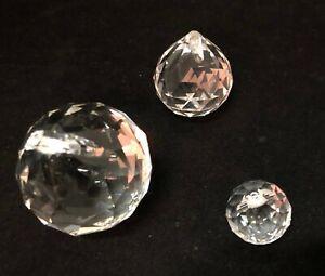 12 PEC 20/30/40 MM Chandelier Clear Glass Prism Crystal Ball Pendant Sun-catcher