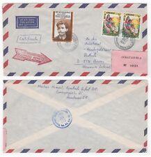 1987 HONDURAS Air Mail Cover COMAYAGUELA to PASSAU GERMANY Pair