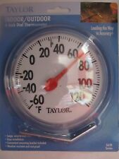 "Taylor Indoor/Outdoor Thermometer 6"" diameter #5630 NEW"