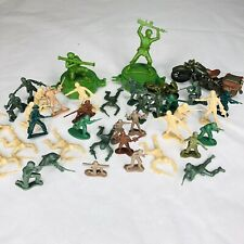 Vintage And New Army Men And Accessories 2 Large Green Brown Tan