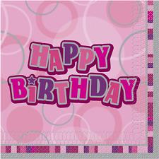 PINK GLITZ - 16 Lunch Napkins Birthday Celebrations Party Tableware