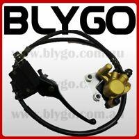 GOLD Hydraulic Front Disc Brake Caliper System Pads 110 125cc PIT PRO Dirt Bike