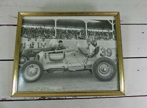 Vintage Racing Car Photo Jimmy Wilburn 1939 For Wayne Indiana - Riverside Tires