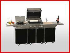 Coobinox Edelstahl Gasgrill 4 Brenner PIANO Außenküche Grill Griller Grillwagen