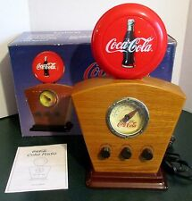 "Coca Cola Radio AM / FM Original Box Antique Style 1934 Light Up Icon Dial 15"" H"