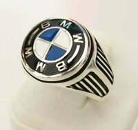 Mens Sterling 925 Silver BMW Biker Ring Turkish Men Handmade Jewelry