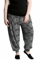 New Women Harem Plus Size Ladies Ali Baba Moroccan Print Cuffed Trouser Nouvelle