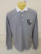 Lyle & Scott Heritage Sportwear Da Uomo Stretto Collar Maglione L Large 45.8 Grigio