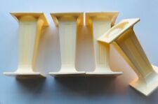 """4 x Ivory SQUARE PILLARS Columns Cake Support Decorate 3""""inch Long Sugarcraft"""
