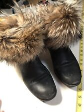 Coyote Fur Boot Toppers - home made