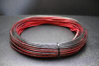 18 GAUGE PER 10 FT RED BLACK ZIP WIRE AWG CABLE POWER GROUND STRANDED COPPER CAR