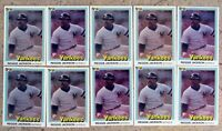 1981 Donruss #468 - Reggie Jackson - HOF New York Yankees - 10ct Card Lot