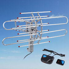 180 Mile HDTV 1080p Outdoor Amplified HD TV Antenna Digital UHF/VHF FM Radio BP