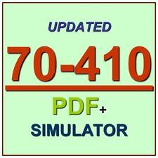 Latest 70-410 Verified Practice Test 410 Exam QA PDF+Simulator