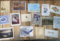 Large MIXED Lot of Vintage Notecards Stationery- 100+ Cards-some Hallmark