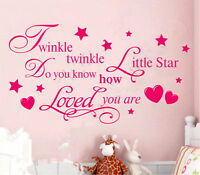 Home Nursery Kids DIY Wall Art Vinyl Decal Decor Removable Wall Sticker Quote