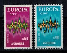 "(b13)  timbres d'Andorre Français n° 217/218 neufs** année 1972 ""europa"""