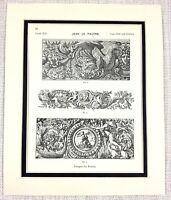 """1676 — Fine Art Print Paul Le Pautre /""""Fireworks at Versailles/"""""""