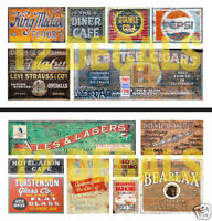 NEW PEEL AND STICK N SCALE WEATHERED BUILDING GHOST SIGN DECALS #10