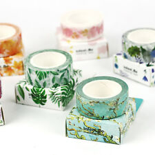 15mm×7M Floral Design DIY Paper Sticky Adhesive Sticker Decorative Washi Tape