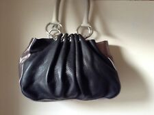 TED BAKER BLACK / SILVER LEATHER BAG - STUNNING !!!!!!!!!!!!!!!!!!!!!!!!!!!