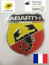 Logo/adhésif/Emblème en métal Pour FIAT et 500 ABARTH éclair 6X5.4cm. Neuf.