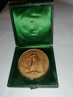 1801/1941 French Art Nouveau Splendid bronze medal by Pierre-Joseph Tiolier