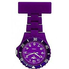 NEW NY LONDON SILICONE RUBBER PLASTIC PURPLE NURSE FOB WATCH BROOCH Doctor