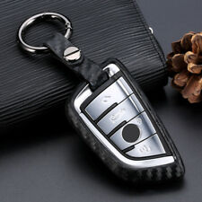 Carbon Fiber Silicone Smart Key Chain Cover Case Fob For BMW X1 X5 X6 X3 M5 M6