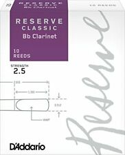 D'addario Woodwinds Reserve Classic si bemol 2.5 Clarinettes Anches...