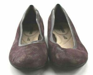 Collection by Clarks Women's 6.5 Medium Comfort Cushion Plum Gracelin Mara Shoes