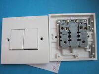 1 Interrupteur Double Va et Vient à encastrer Blanc  MEM -GB NEUF
