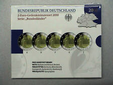 GERMANIA 2010 SET UFFICIALE FS 2 euro commemorativo 5 zecche A D F G J BREMA BE